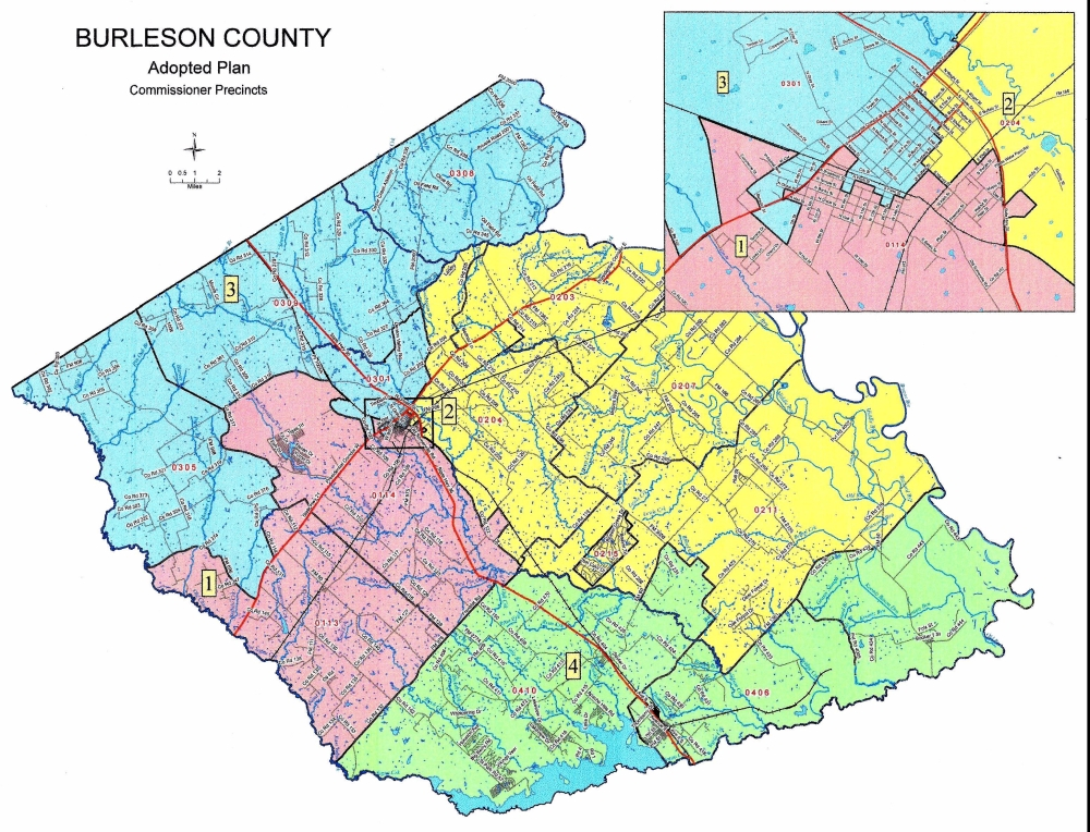 Burleson County Precinct Map